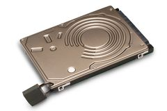 Data protection Hard disk with padlock. The concept of data protection. Protection and encryption of personal data royalty free stock images