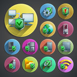 Data protection icons set Royalty Free Stock Images
