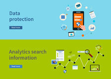 Data protection icons Stock Photo