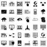 Data protection icons set, simple style. Data protection icons set. Simple style of 36 data protection vector icons for web isolated on white background Royalty Free Stock Images