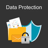 Data protection illustration. Royalty Free Stock Photos