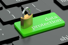 Data protection keyboard button Stock Image