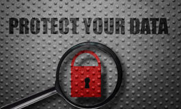 Data protection magnified Stock Image