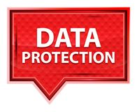 Data Protection misty rose pink banner button royalty free illustration