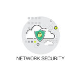 Data Protection Privacy Internet Information Network Security Icon. Vector Illustration Stock Photo
