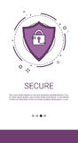 Data Protection Privacy Internet Information Network Security. Vector Illustration Stock Photo