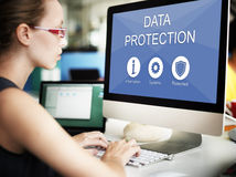 Data Protection Privacy Networking Concept Stock Image