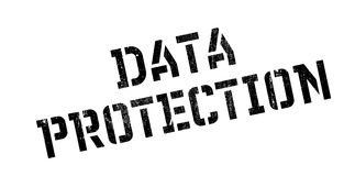 Data Protection rubber stamp Stock Photo