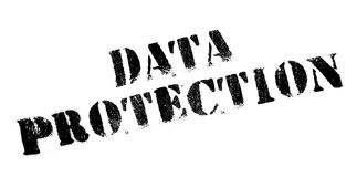 Data Protection rubber stamp. Grunge design with dust scratches. Effects can be easily removed for a clean, crisp look. Color is easily changed Royalty Free Stock Photography