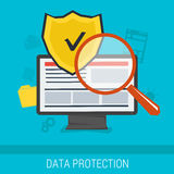 Data protection and safe work online Stock Photo