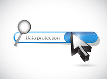 Data protection search bar illustration design Royalty Free Stock Photo