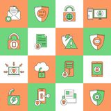Data Protection Security Icons Stock Image