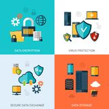 Data Protection Set Stock Photography