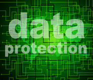 Data Protection Shows Knowledge Protected And Secured Stock Photos