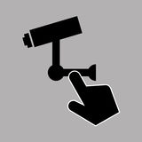 Data protection smartphone surveillance camera Royalty Free Stock Image