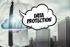 Data protection text on cloud computing theme with Stock Photos