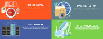 Data protection, transmission, storage and delete Royalty Free Stock Photos