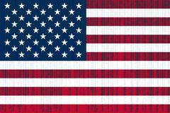Data protection USA flag. American flag with binary code. Royalty Free Stock Images