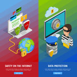 Data Protection Vertical Banners Set Royalty Free Stock Photo