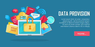 Data Provision Banner Stock Image