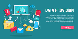 Data Provision Banner Stock Images
