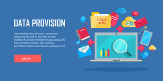 Data Provision Banner Royalty Free Stock Photos