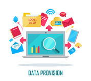 Data Provision Banner Royalty Free Stock Images