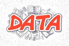 Data - röd inskrift för klotter äganderätt för home tangent för affärsidé som guld- ner skyen till Arkivfoton