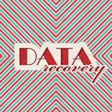 Data Recovery Concept on Striped Background. Royalty Free Stock Photos