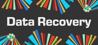 Data Recovery Dark Colorful Elements Background Royalty Free Stock Photos