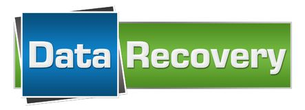 Data Recovery Green Blue Horizontal Royalty Free Stock Images