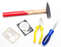 Data recovery Stock Photo