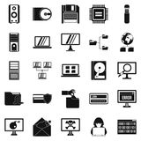 Data recovery icons set, simple style. Data recovery icons set. Simple set of 25 data recovery vector icons for web isolated on white background Royalty Free Stock Photo