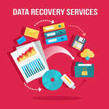 Data Recovery Services Banner Stock Image
