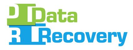 Data Recovery Green Blue Abstract Stripes. Data recovery text written over green blue background Stock Image