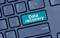 Data recovery words on keyboard button. Pc royalty free stock photos