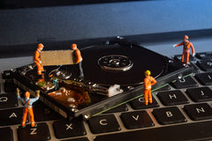 Data recovery work. Stock Images