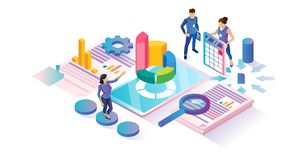 Free Data Research Isometric Cyberspace Concept Illustration Royalty Free Stock Photography - 139258077
