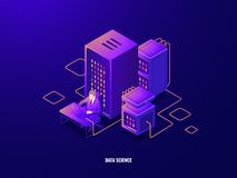 Free Data Research Isometric Icon, Information Analyzing And Big Data Processing, Artificial Intelligence Ai, Magnifying Stock Photo - 131022530