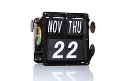 Data retro do calendário mecânico isolada Fotos de Stock