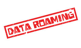 Data Roaming rubber stamp Royalty Free Stock Photography