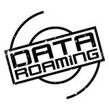 Data Roaming rubber stamp Stock Photo