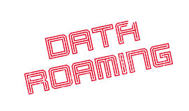 Data Roaming rubber stamp Royalty Free Stock Image