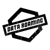 Data Roaming rubber stamp Royalty Free Stock Photo
