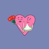 Data romântica do cuple do amor Foto de Stock
