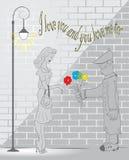 Data romantica Immagini Stock