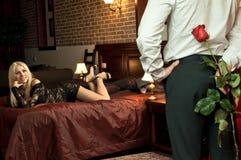Data romantica Fotografia Stock Libera da Diritti