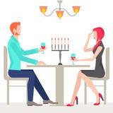 Data romantica, coppie nell'amore Fotografia Stock