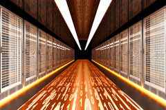 Data Rush. On the Server highway. 3d rendered Illustration Stock Images
