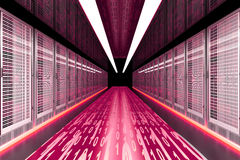 Data Rush. On the Server highway. 3d rendered Illustration Stock Image